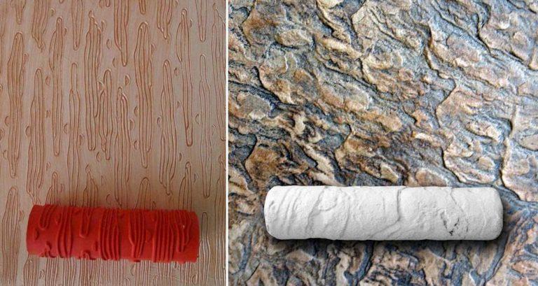 Как сделать декоративную штукатурку валиком